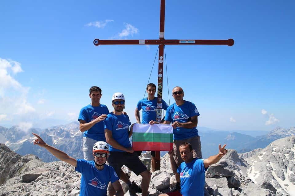 SOS планински спортен клуб синя тениска